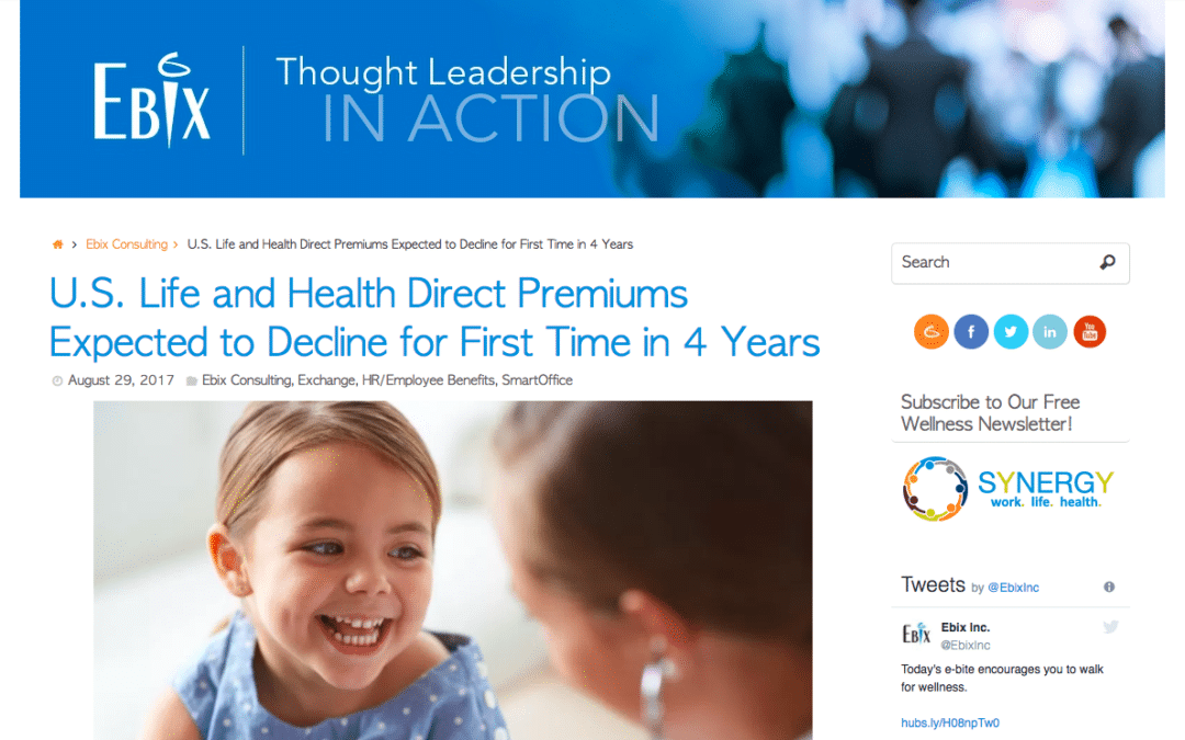U.S. Life and Health Insurance Premiums Expected to Decline