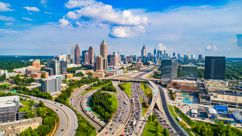Atlanta, Georgia, USA Downtown Skyline Aerial