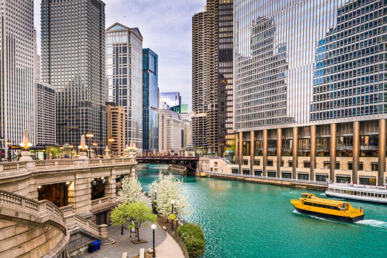 Chicago, Illinois, USA Downtown Skyline