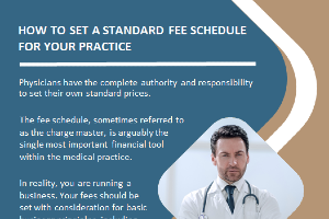The fee schedule, sometimes referred to as the charge master, is arguably the single most important financial tool within the medical practice.