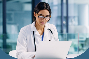 Physician looking up healthcare payer reimbursements to increase their medical practice revenue