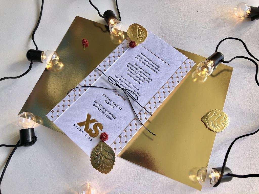 Copper Letterpress Foiled Invitation