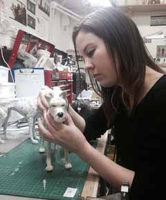 puppet maker at work
