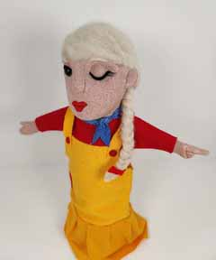 she turned hand puppet