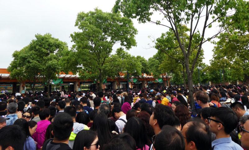 Shanghai Disneyland Crowds