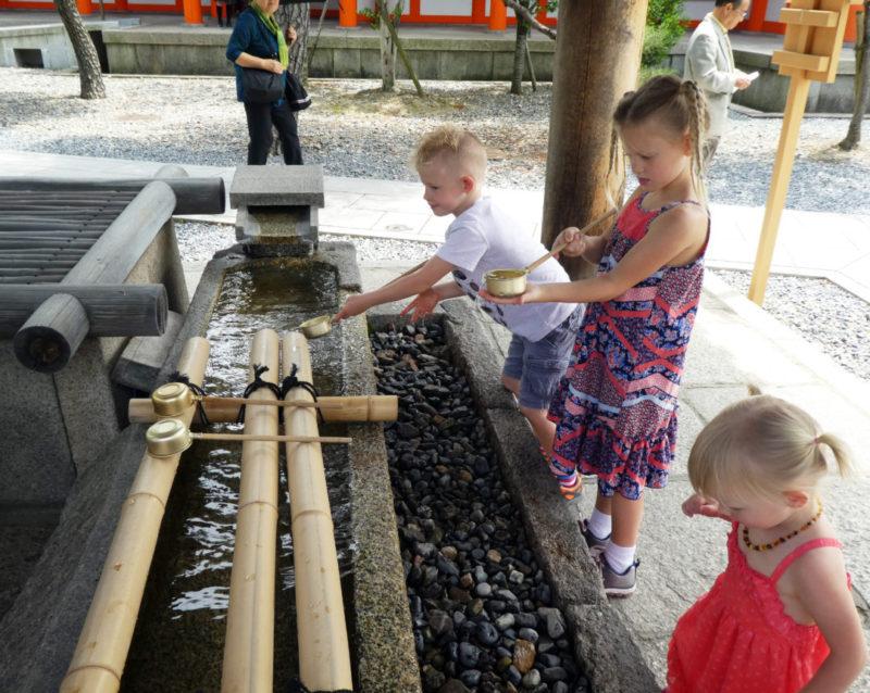 Buddhist temple purifying station