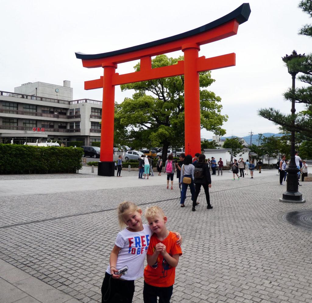 Street vendors plaza at Fushimi Inari-Taisha