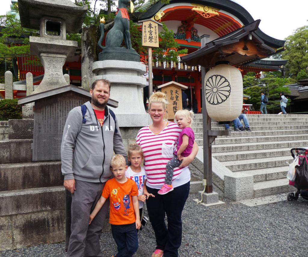 Family at Fushimi Inari-Taisha Shrine