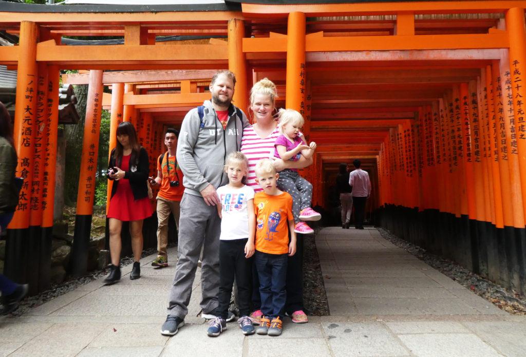 Family Photo with torii gates
