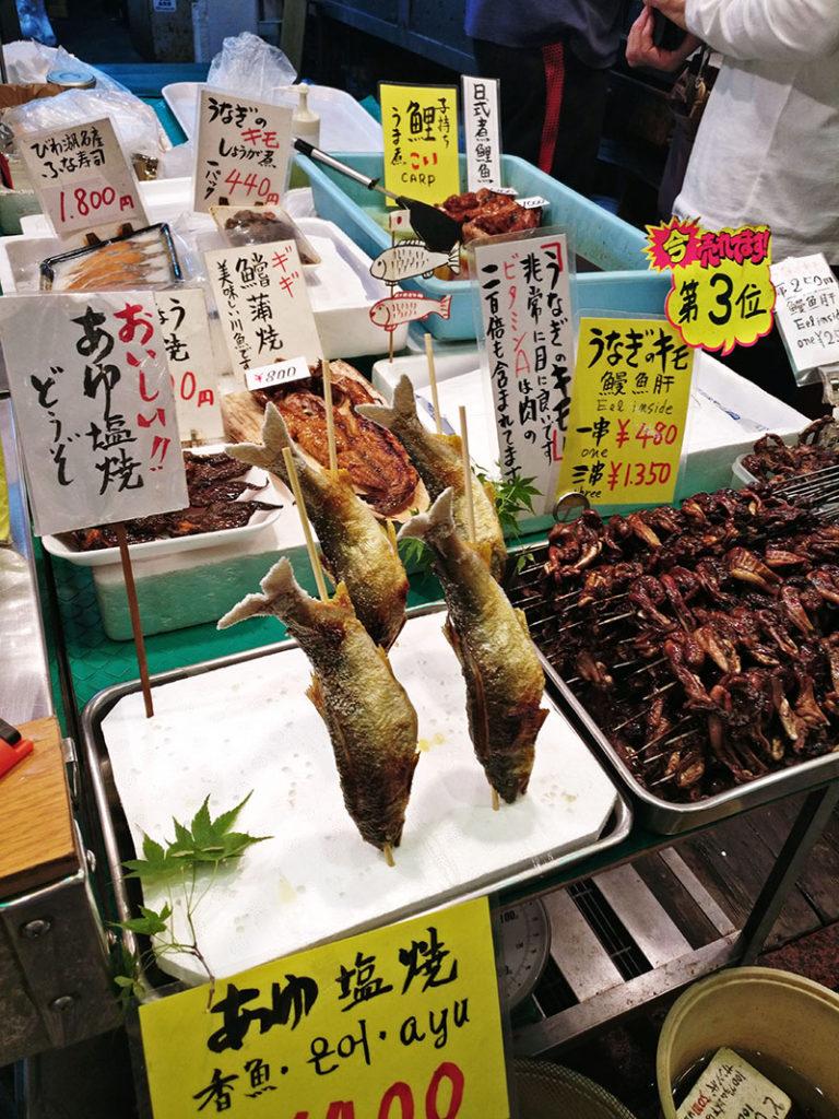 Nishiki Market, Kyoto's Kitchen, Kitchen, Kyoto, Japan, Traveling with kids, Family Travel, Diapers on a plane, Diapersonaplane
