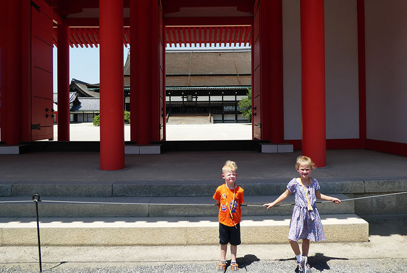 Kyoto Imperial Palace, Emperor, Japan, Kyoto, Traveling with kids, Family Travel, Diapers on a plane, diapersonaplane