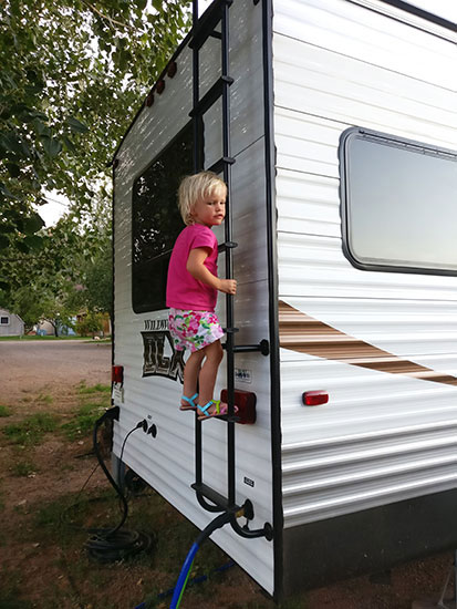 RV in Moab, Glamping, Arches, Moab, Airbnb, Traveling with kids, family travel, diapersonaplane, Diapers On A Plane,