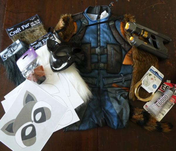 Rocket Raccoon Halloween Costume Supplies