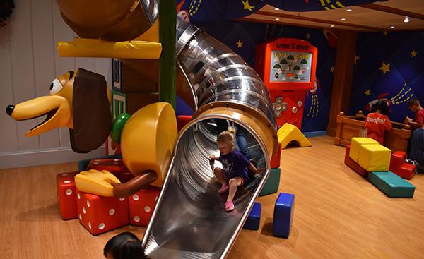 Disney Cruise Kids Clubs, Andy's Room, Slinky Slide