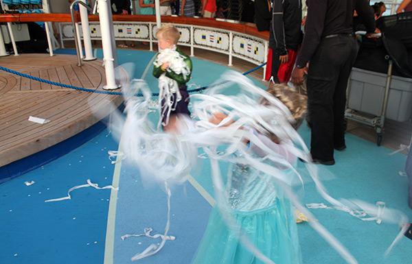 Freezing the Night Away with Elsa and Anna party on Disney Cruise