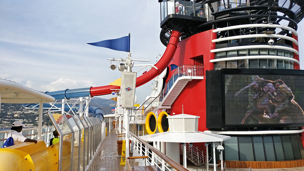Disney Cruise Pools and AquaDunk