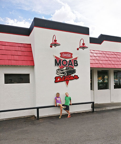 Moab Diner, Arches National Park, Moab, Utah, hiking with kids, traveling with kids, family travel, creating family memories