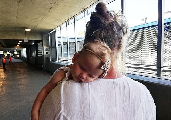 Baby Sleeping Mom's Shoulder