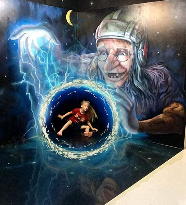 Demented Wizard Vortex at Trick Art Story in Incheon, Korea at Fairy Tale Village