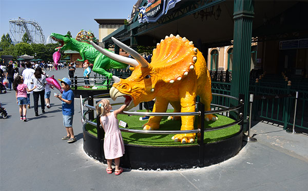 Dinosaurs at Everland in South Korea
