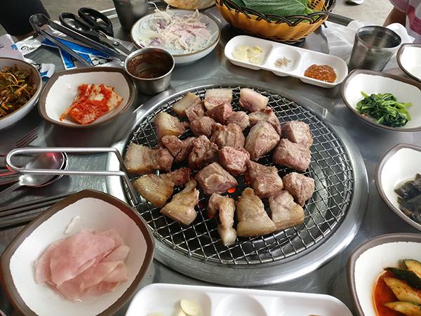 Famous Black Pork Belly on Jeju Island