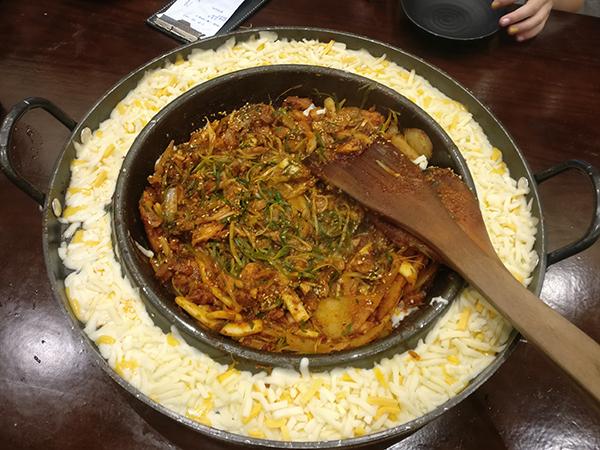 Chicken Galbi in Korea