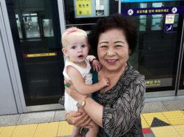 Subway in Korea with kids