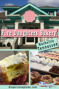 The Best Donuts in Nashville! 100 layers of ooey gooey, buttery sweet, thick and luscious doughnuts that vanish with a glance. Doughnuts that make me forget anything else in the world exists outside that pastel pink and turquoise brick building with picturesque picnic benches out front.