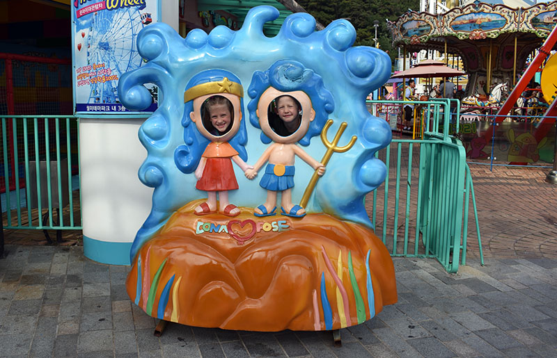 Wolmi Theme Park in Incheon South Korea