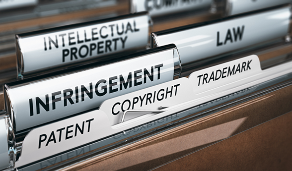 Filing cabinet with copyright tab