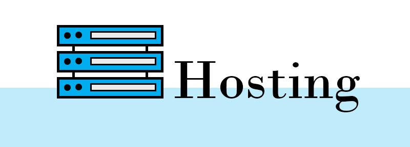 Hosting sign