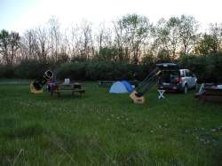 Members set up for a night of observing.