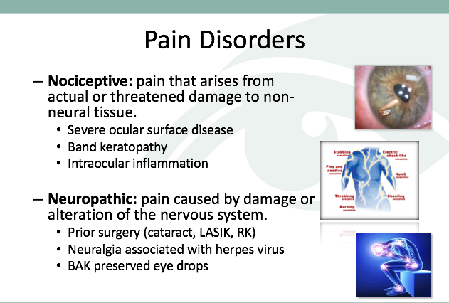 Neuropathic Pain and Nociceptive Pain