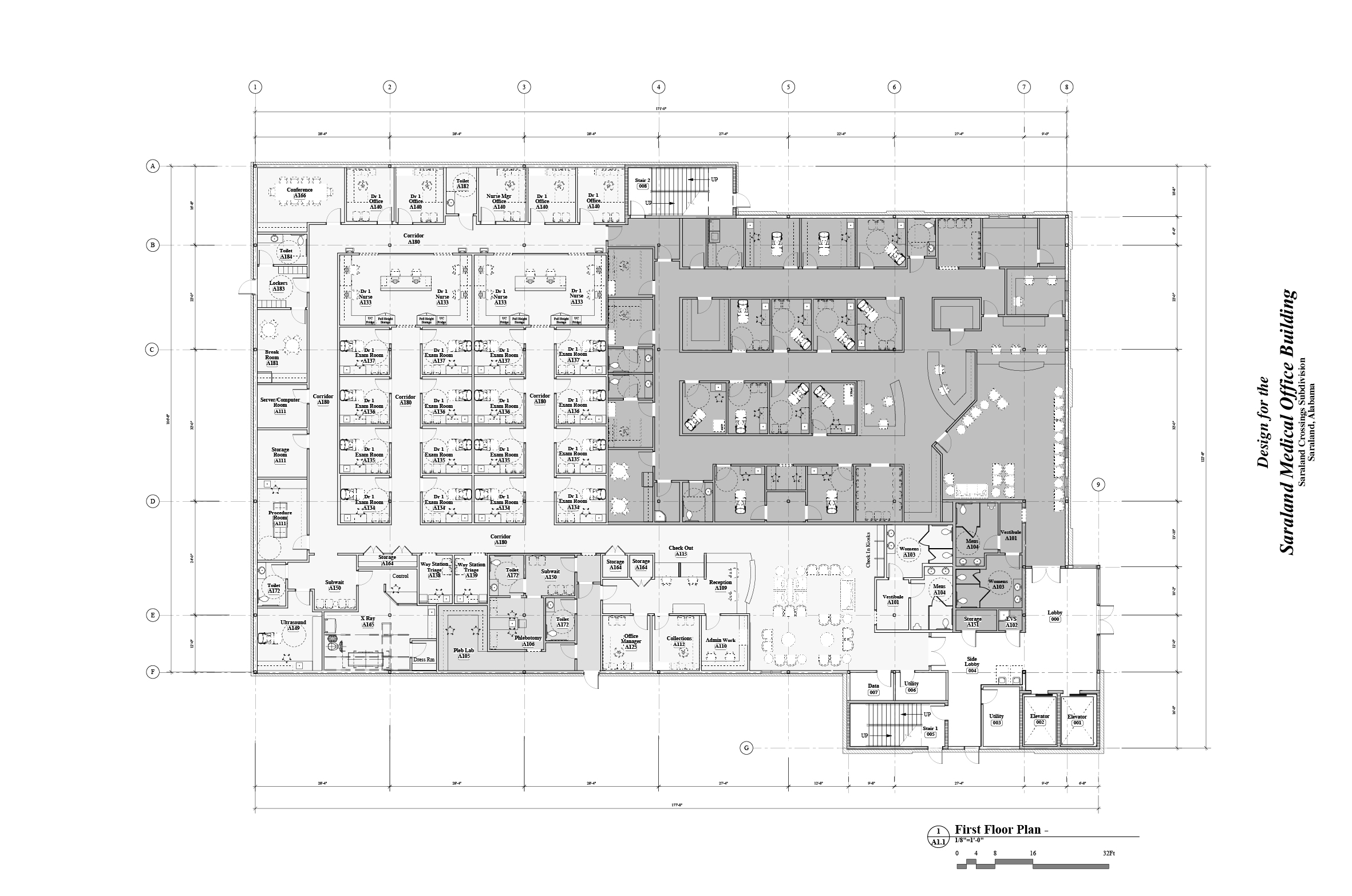 Saraland Medical Offices first floor plan