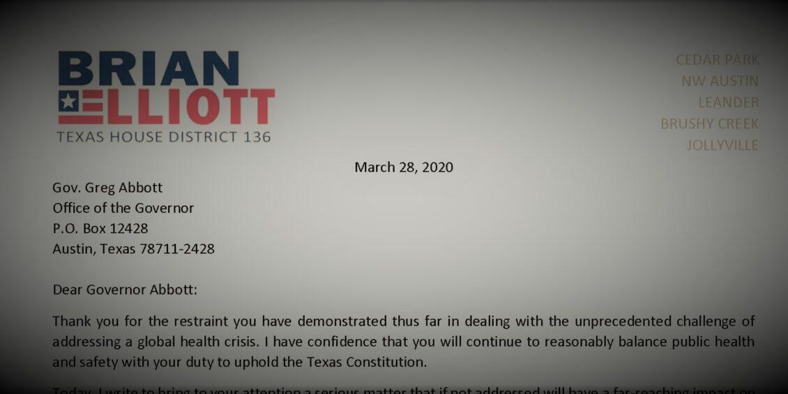 Elliott Letter to Gov Abbott