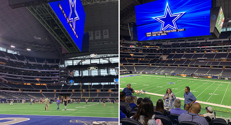 Closed Captioning on the Video Screen at AT&T Stadium