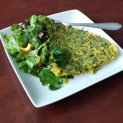 Vegan Breakfast Recipe: Egg-free Asparagus Frittata