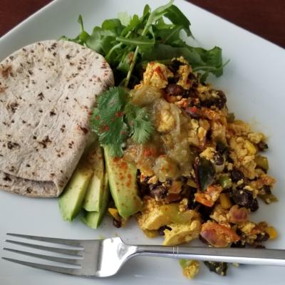 Vegan Breakfast Recipe: Black Bean Tofu Scramble