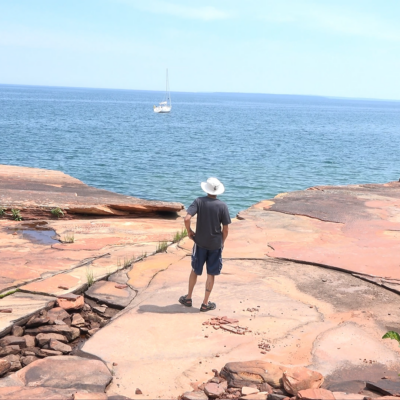 Sailing, Batteries, Caves, Lighthouses and…Hail?