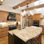 Weathered antique timbers in kitchen