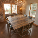 Reclaimed wood furniture table top by Manomin Resawn Timbers