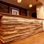 reclaimed wood paneling tiles