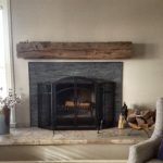 reclaimed wood mantel by Manomin Resawn Timbers