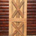 Criss cross barn door