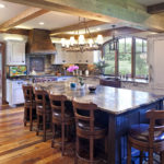 Dining room with weathered antique wood