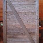 Dark chestnut barn door
