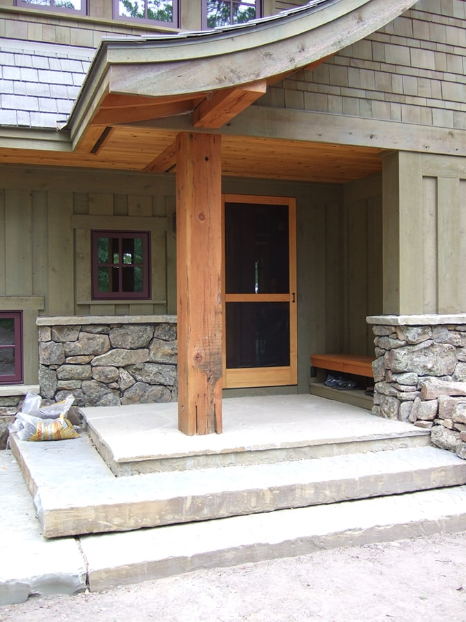 Outdoor douglas firm timber post