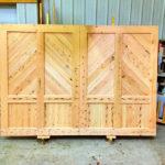Light douglas fir garage door