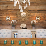 Weathered antique wall paneling
