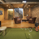 Basement with hand hewn timbers